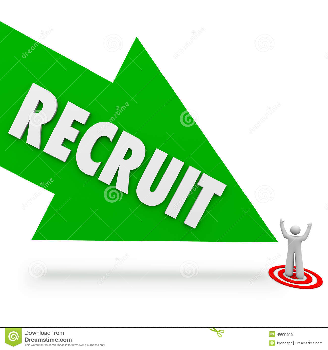 Recruit Arrow Hire Job Candidate Find Best Employee Stock