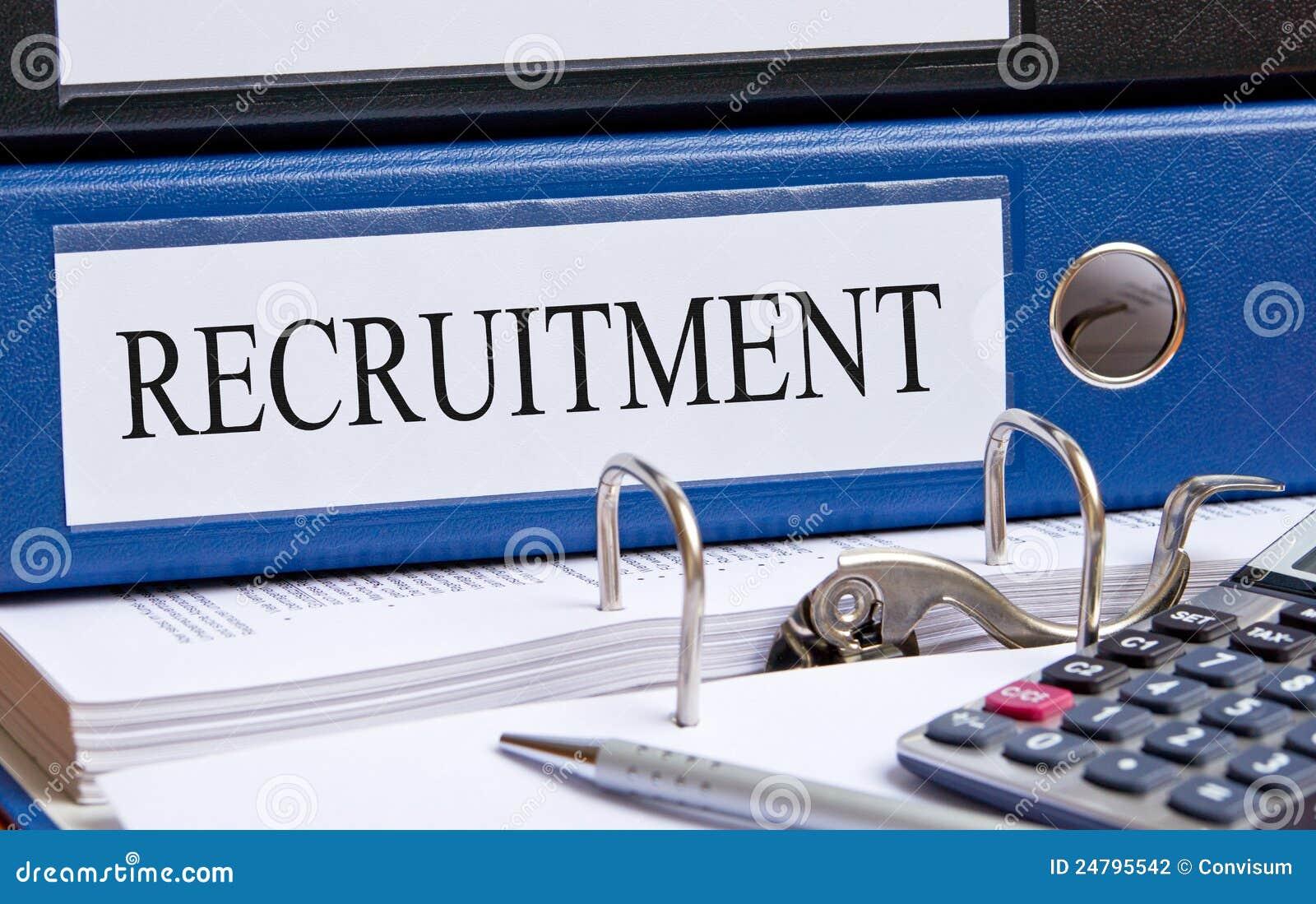 Recruitment binder in office