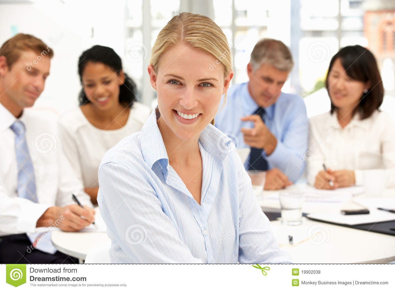 office meeting. Recruitment Office Meeting Royalty Free Stock Photos