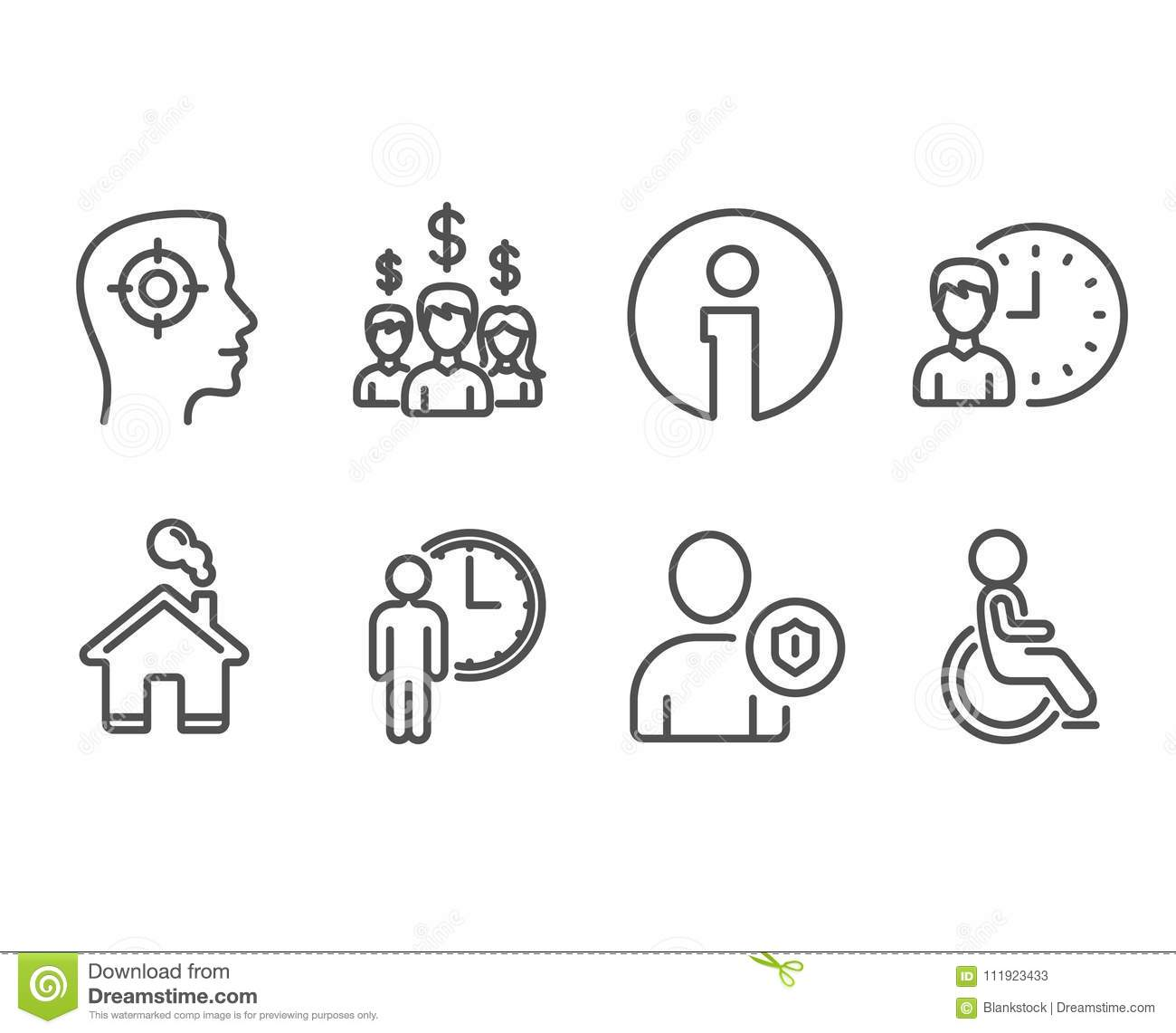 recruitment security and salary employees icons waiting working