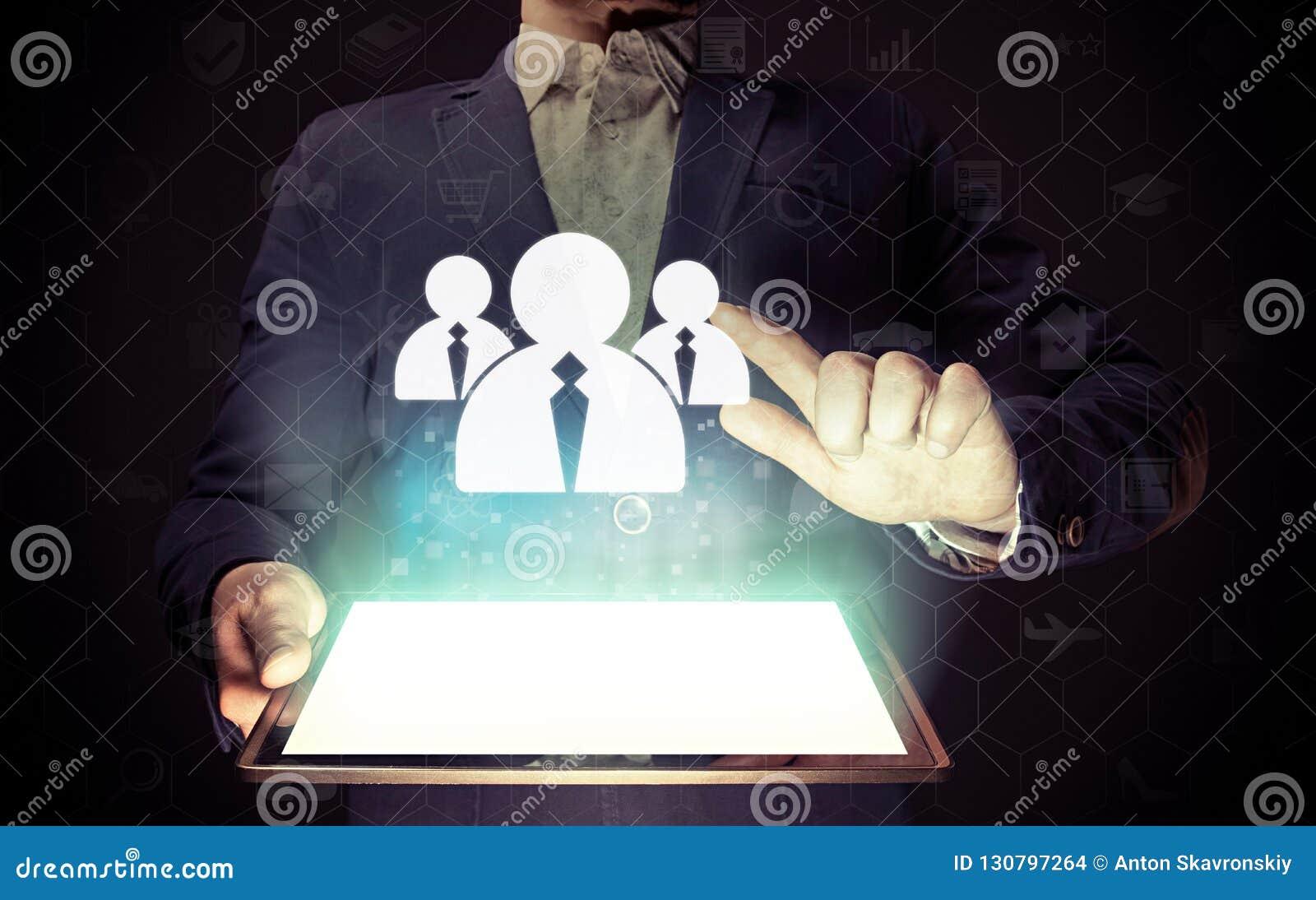 Recrutement d affaires ou concept de location de photo