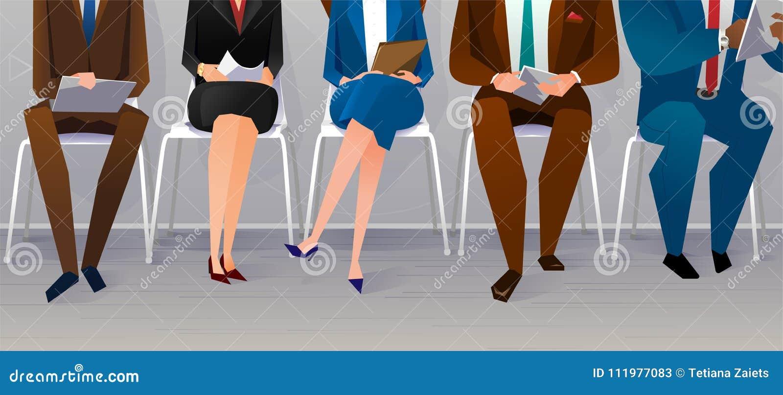 Recrutement d entrevue de ressources humaines Concept de travail