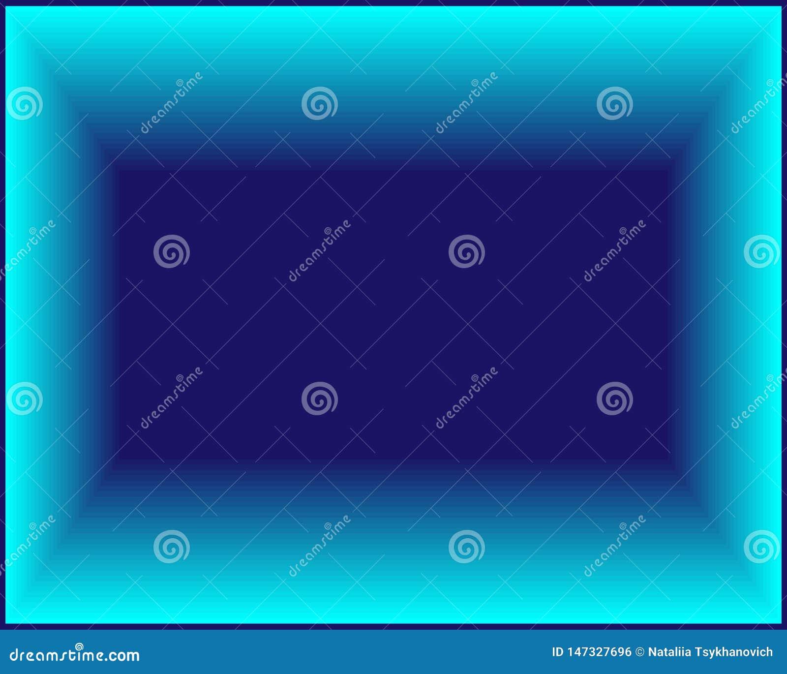 Rectángulo azul brillante de neón del fondo del extracto