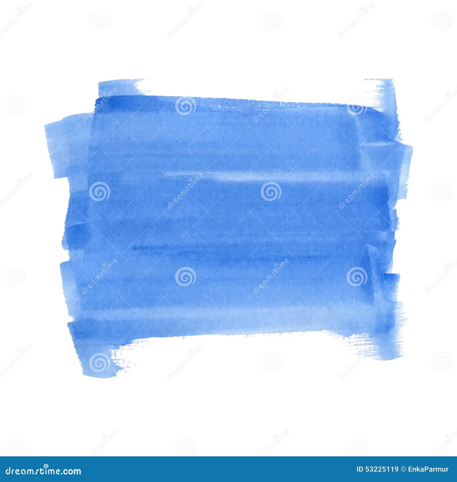 Rectángulo azul de la acuarela