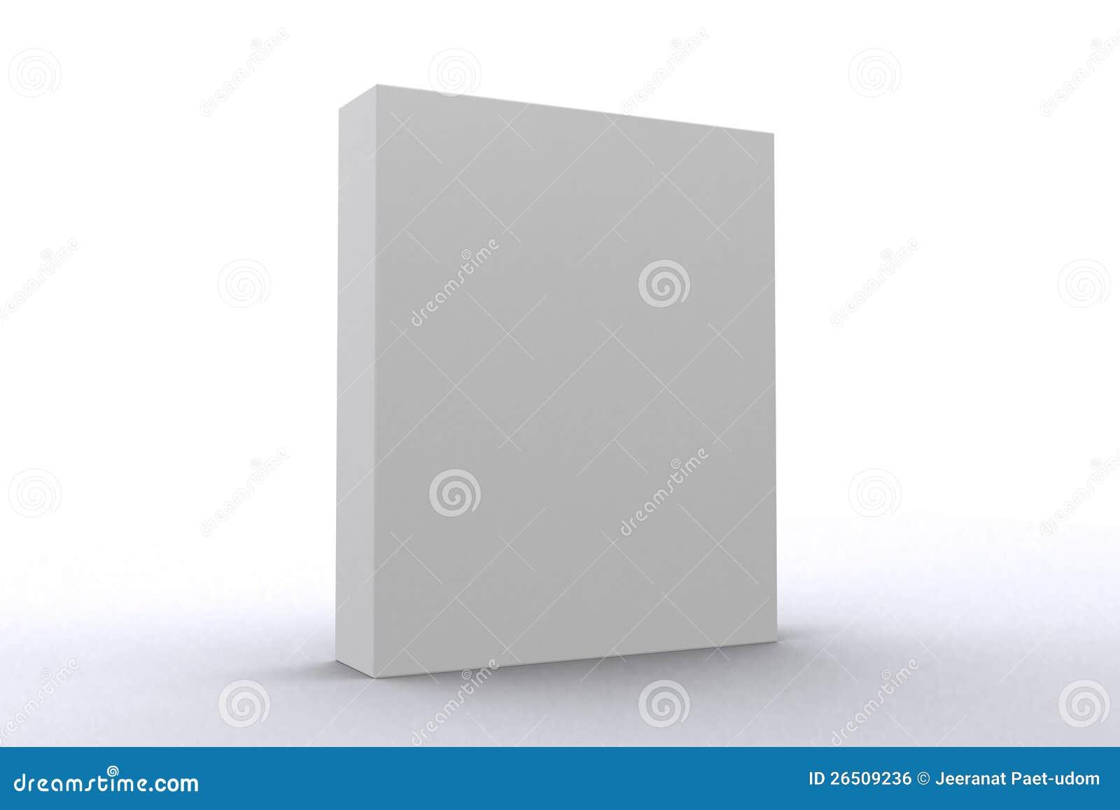 Rectángulo blanco del paquete de programas informáticos
