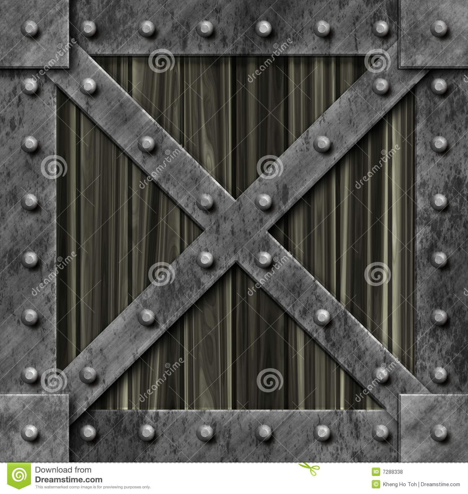 Rectángulo bloqueado fuerte del metal