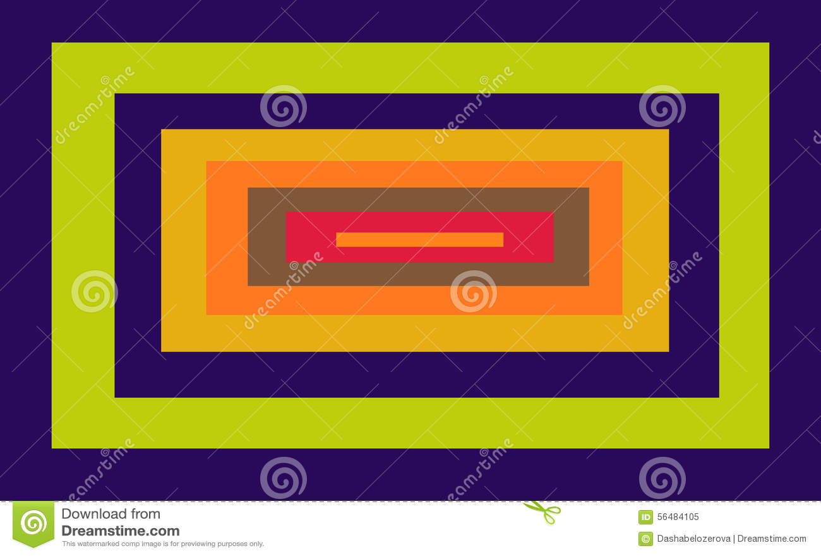 Rectángulo Con Los Marcos Coloreados Dentro Stock de ilustración ...