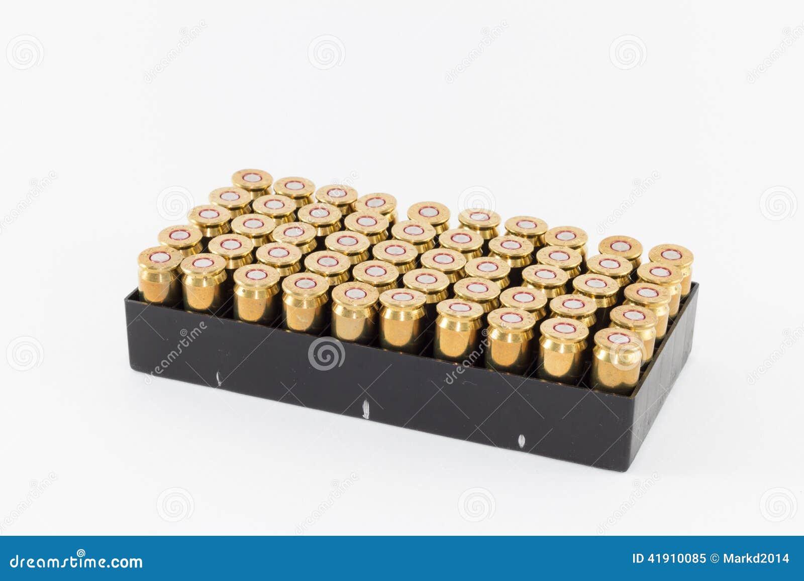 Rectángulo de 45 cartuchos del calibre