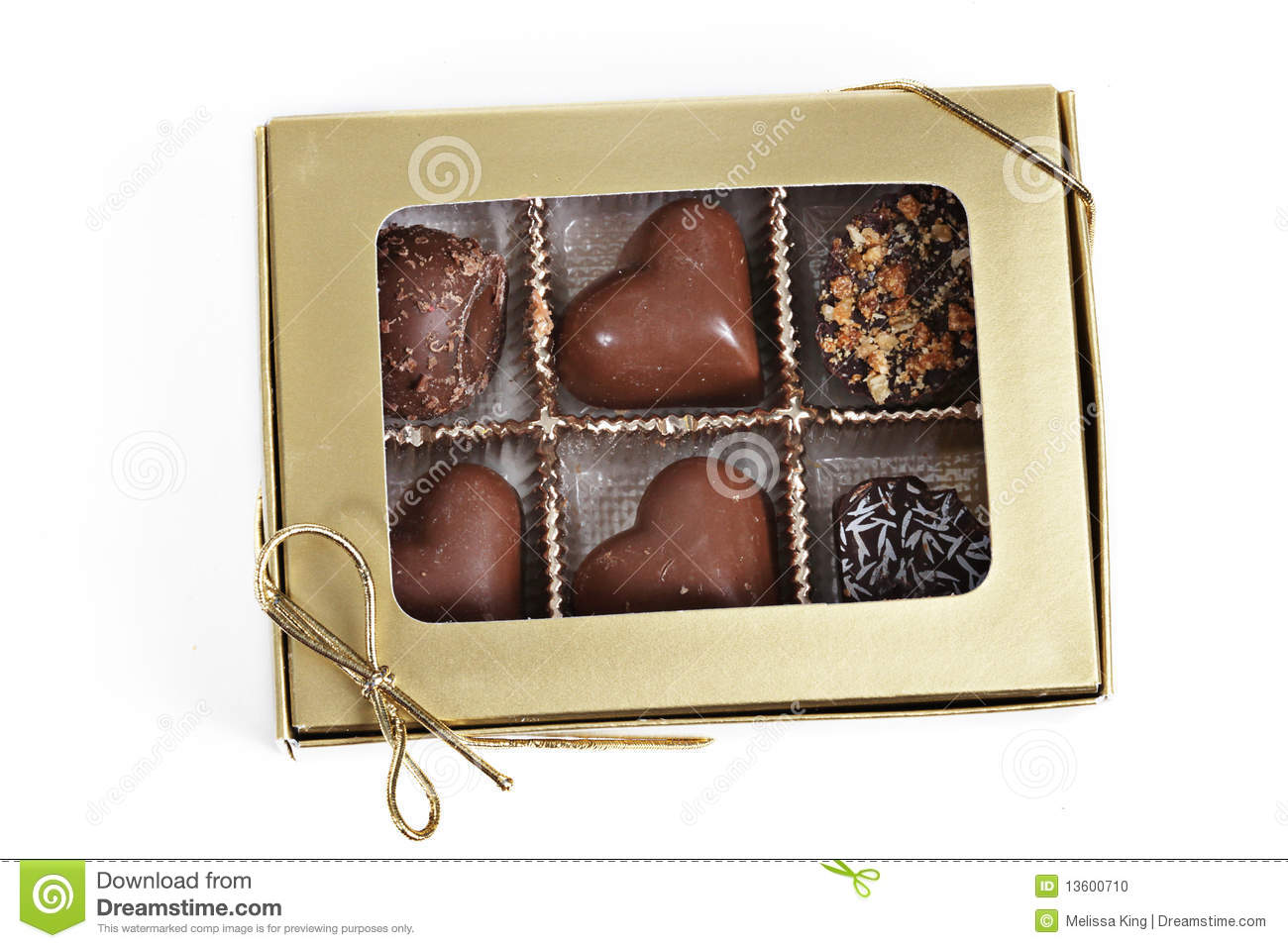 Rectángulo de chocolates
