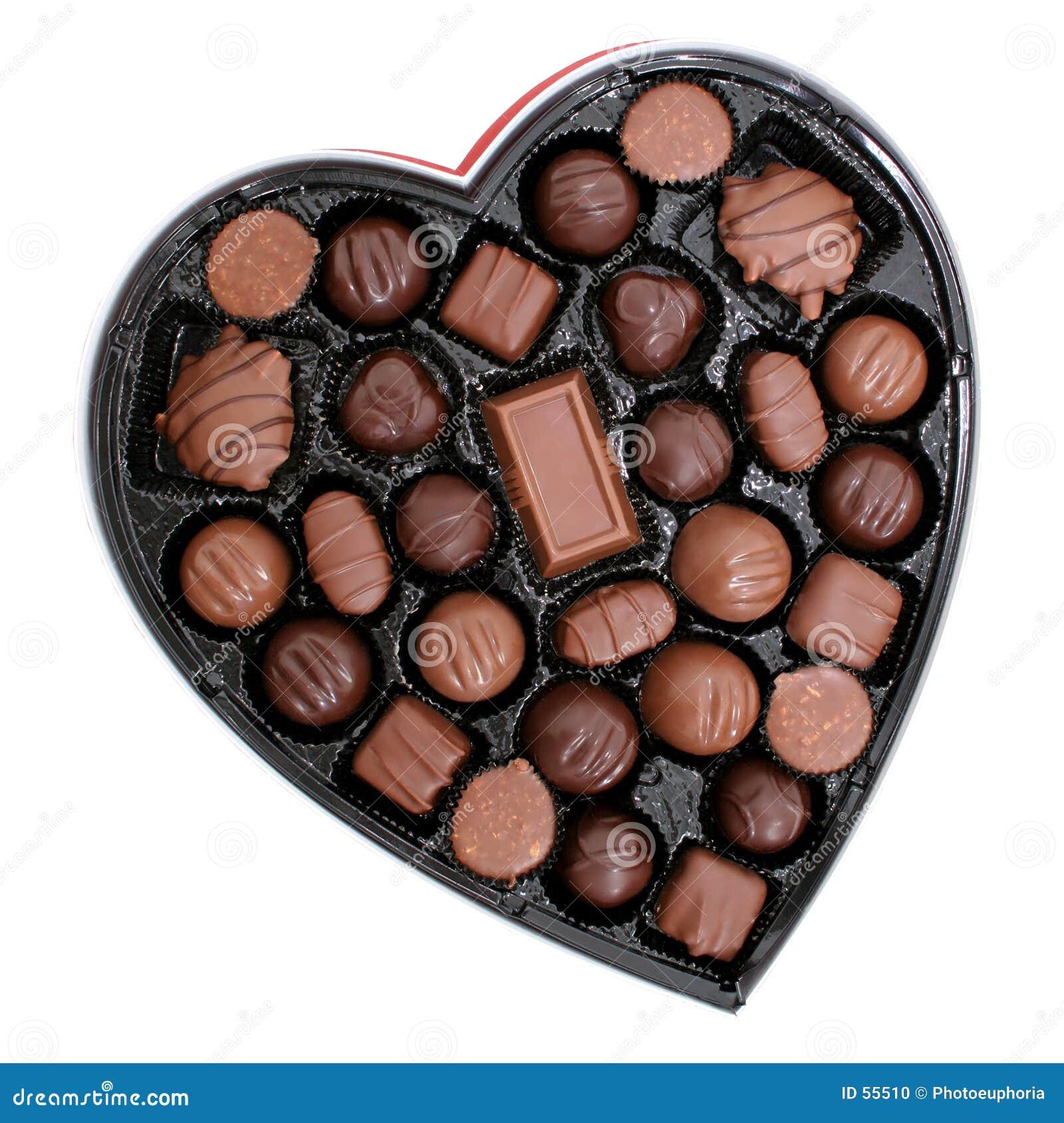 Rectángulo de chocolates en una dimensión de una variable del corazón (imagen 8.2mp)