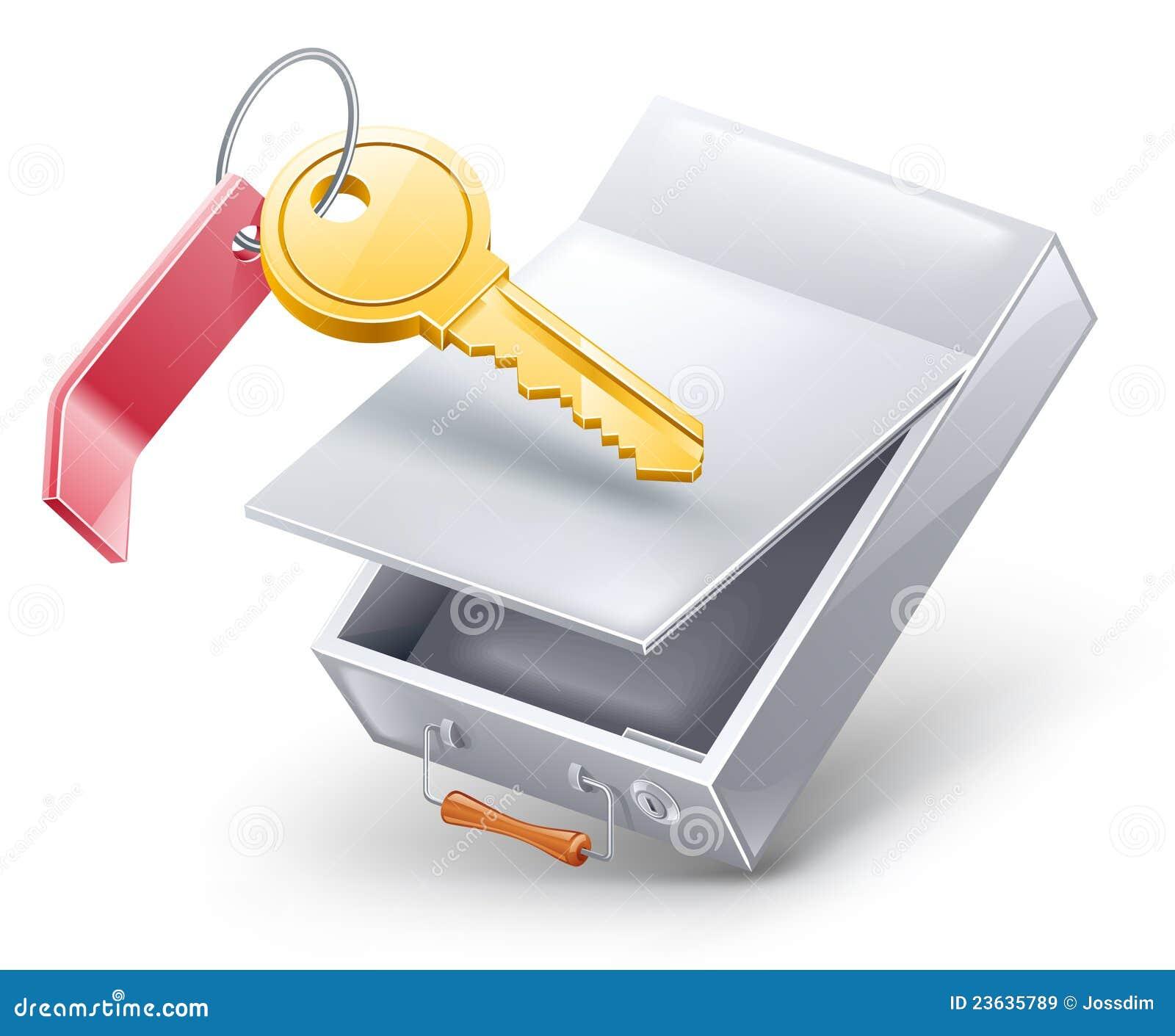 Rectángulo de depósito de seguridad con clave