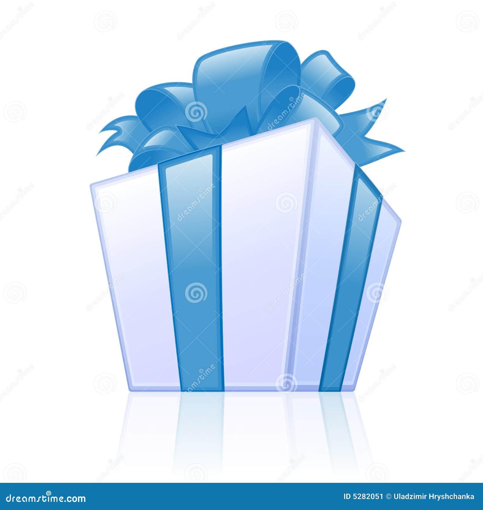 Rectángulo de regalo azul