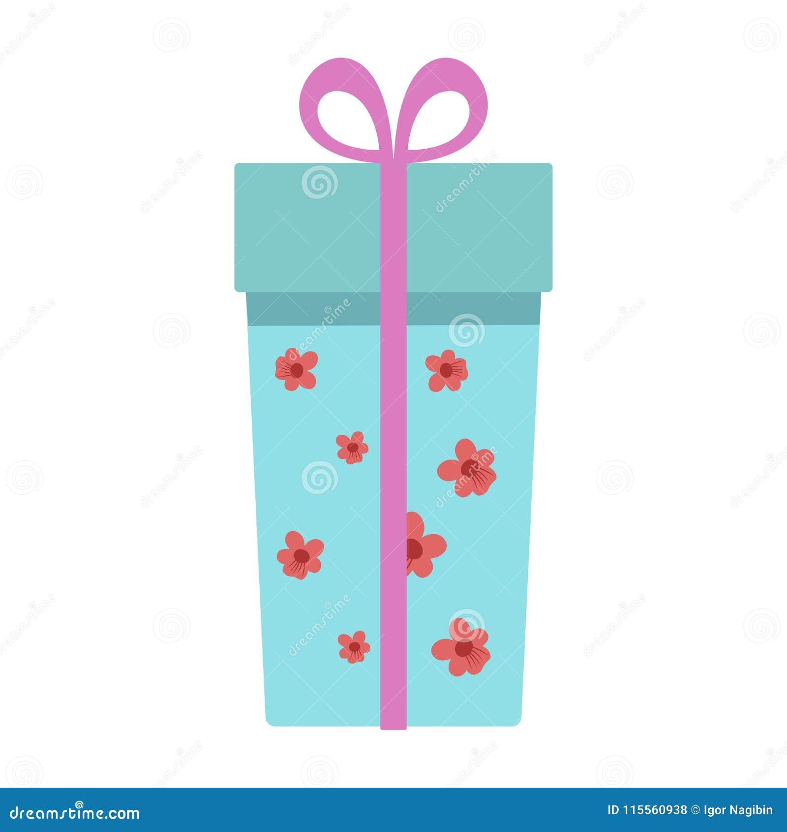 Rectángulo de regalo coloreado