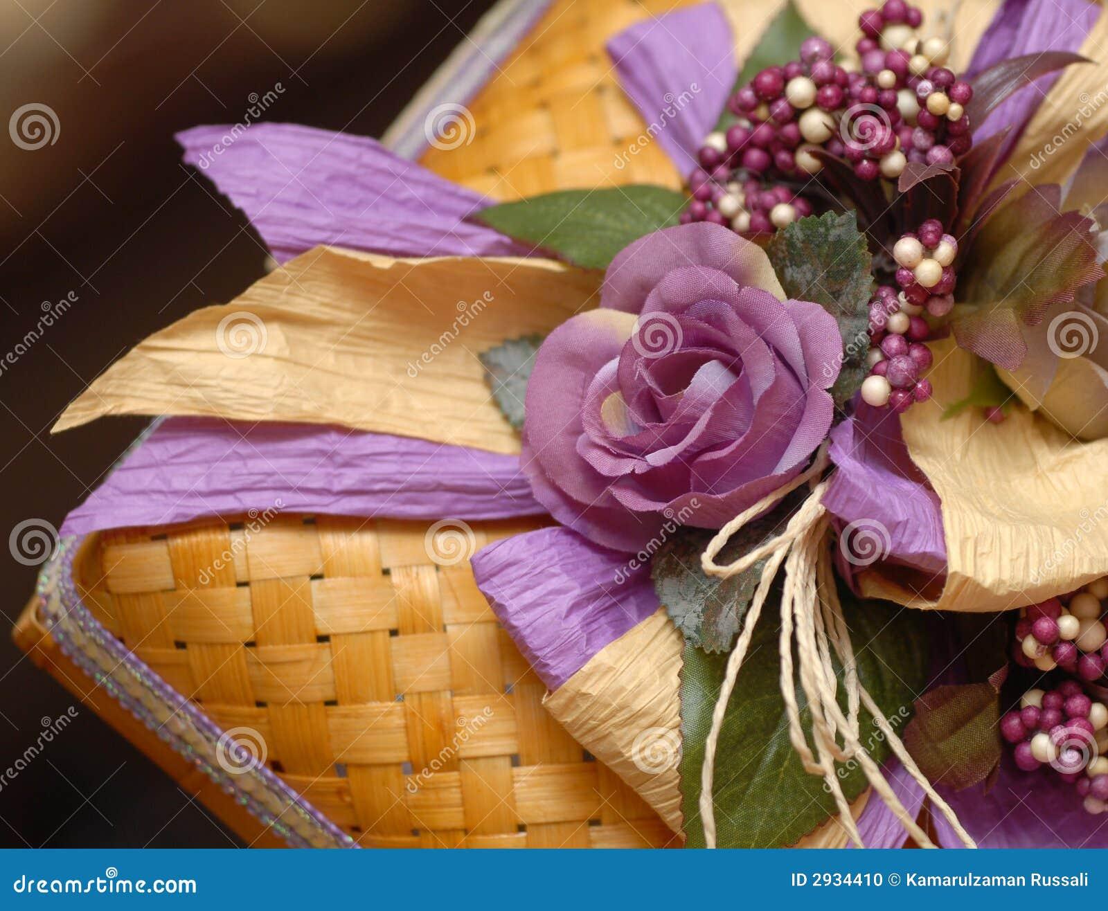 Rectángulo de regalo de boda del Malay