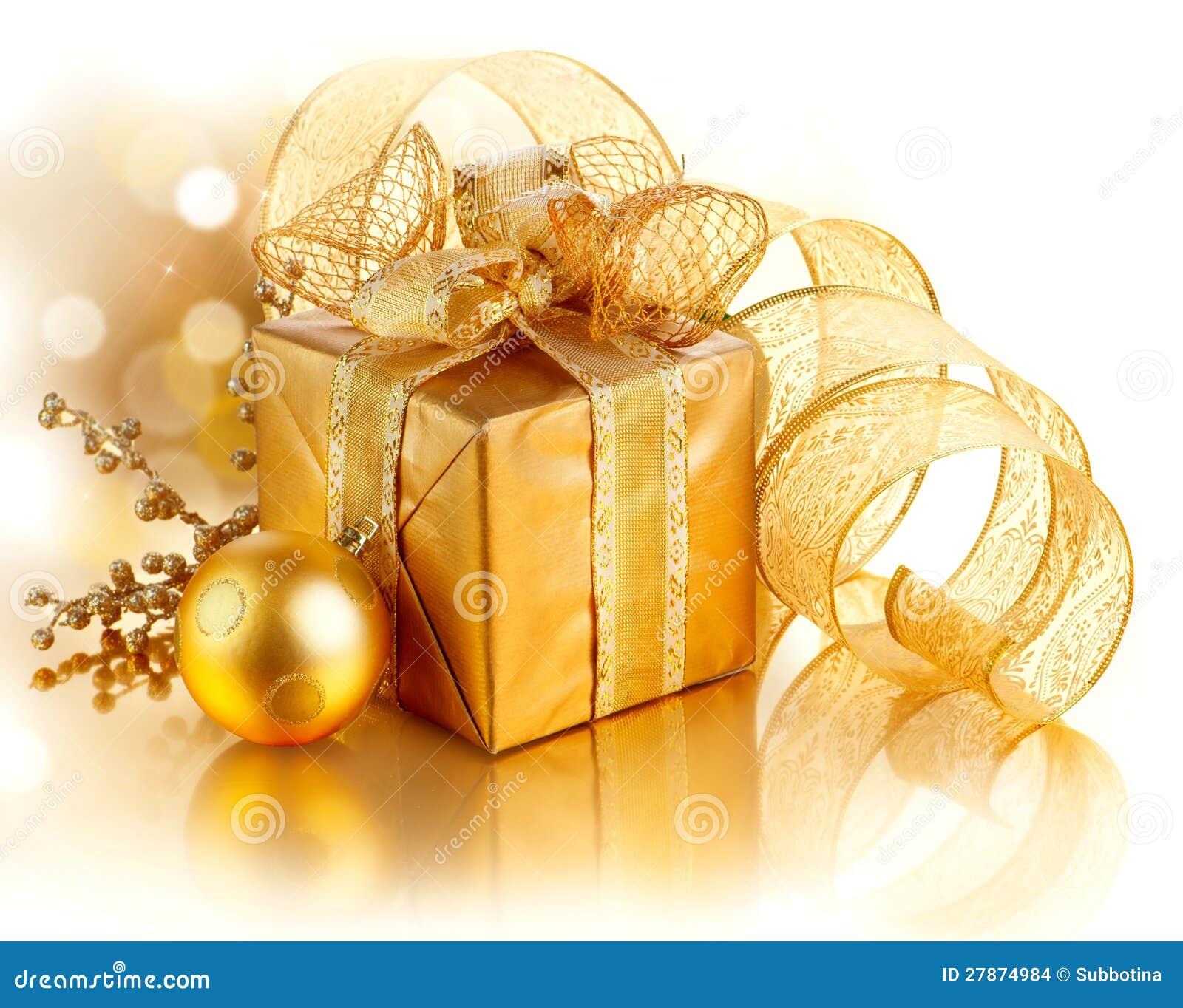 Rectángulo de regalo de la Navidad