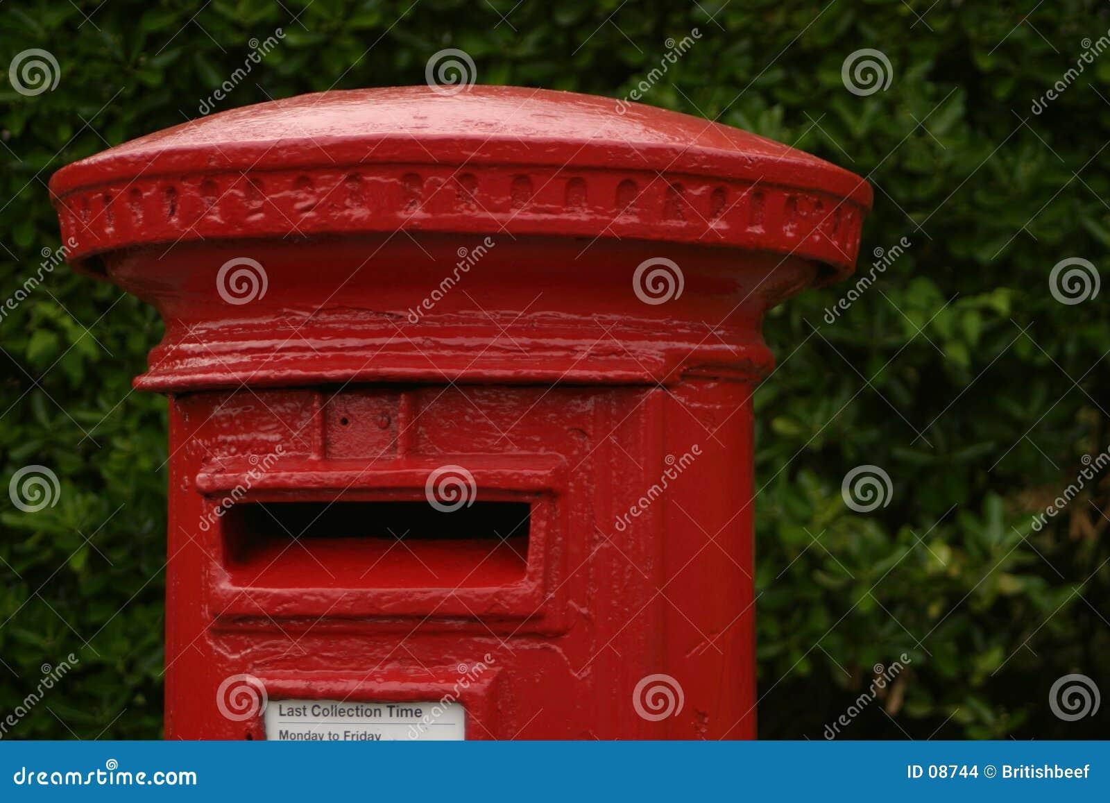 Rectángulo rojo británico del poste