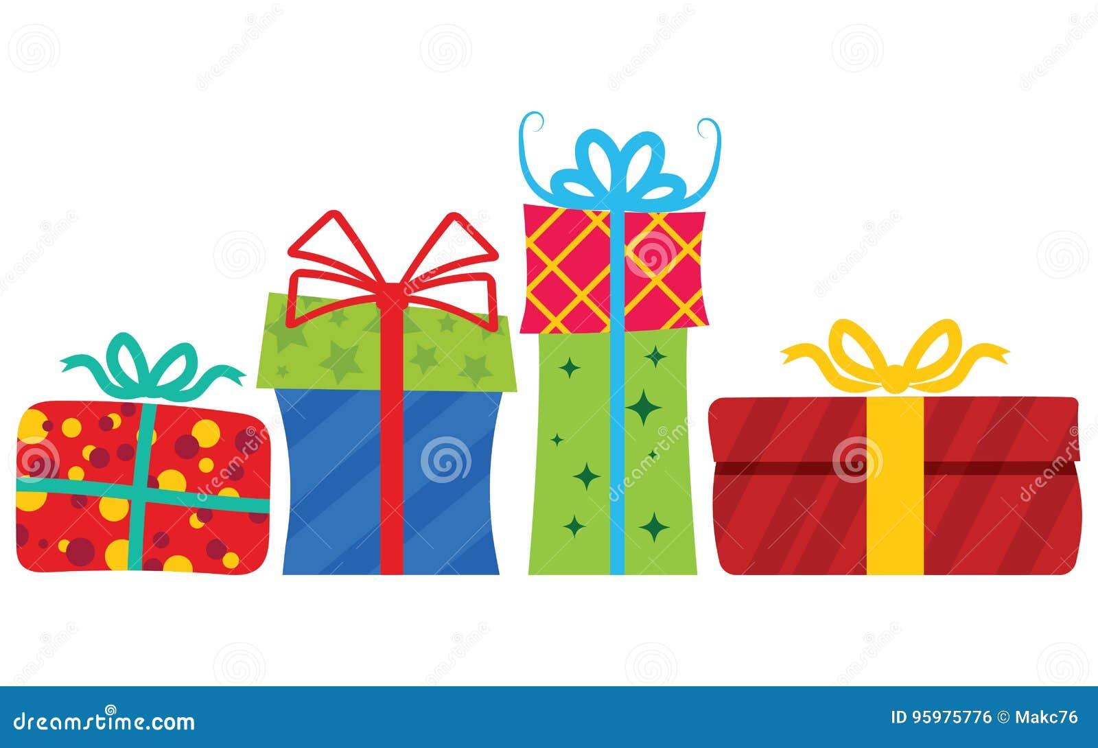 Rectángulos de regalo con la cinta