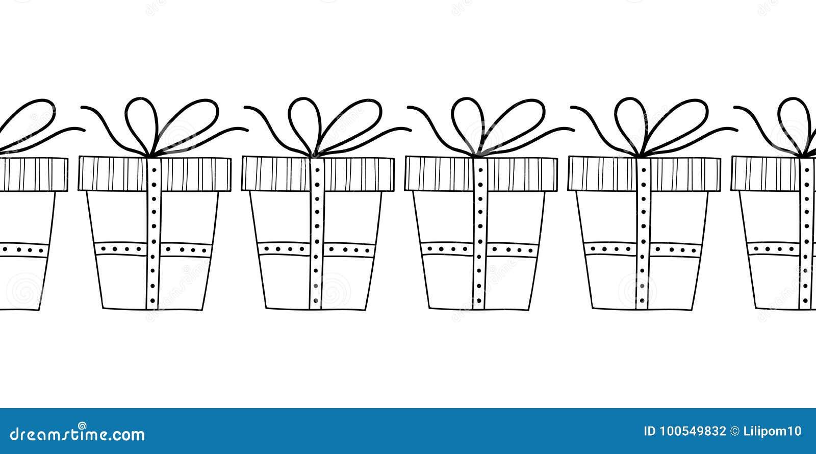 Rectángulos De Regalo Decorativos Ejemplo Blanco Y Negro