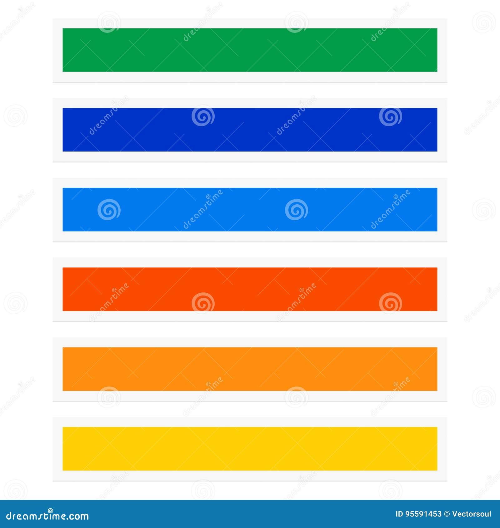 Rectángulos del botón/de la bandera con la combinación de color nearsighted