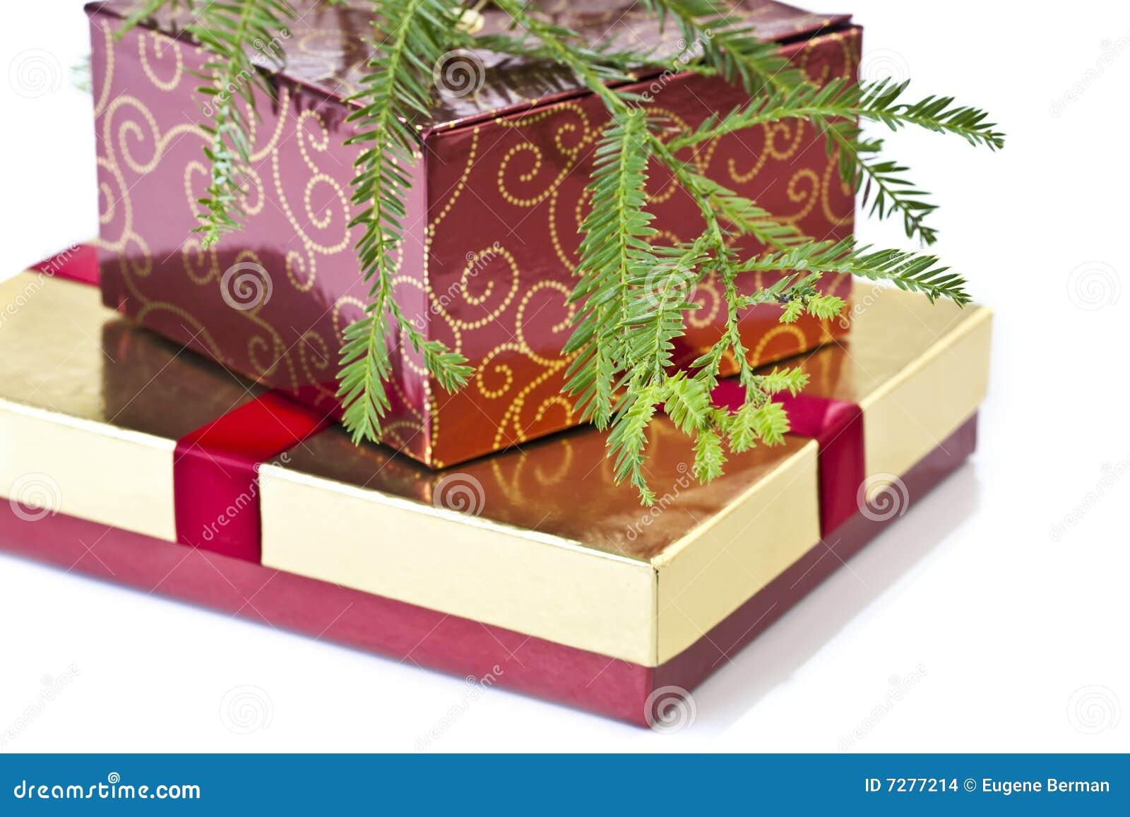 Rectángulos y árbol de navidad de regalo