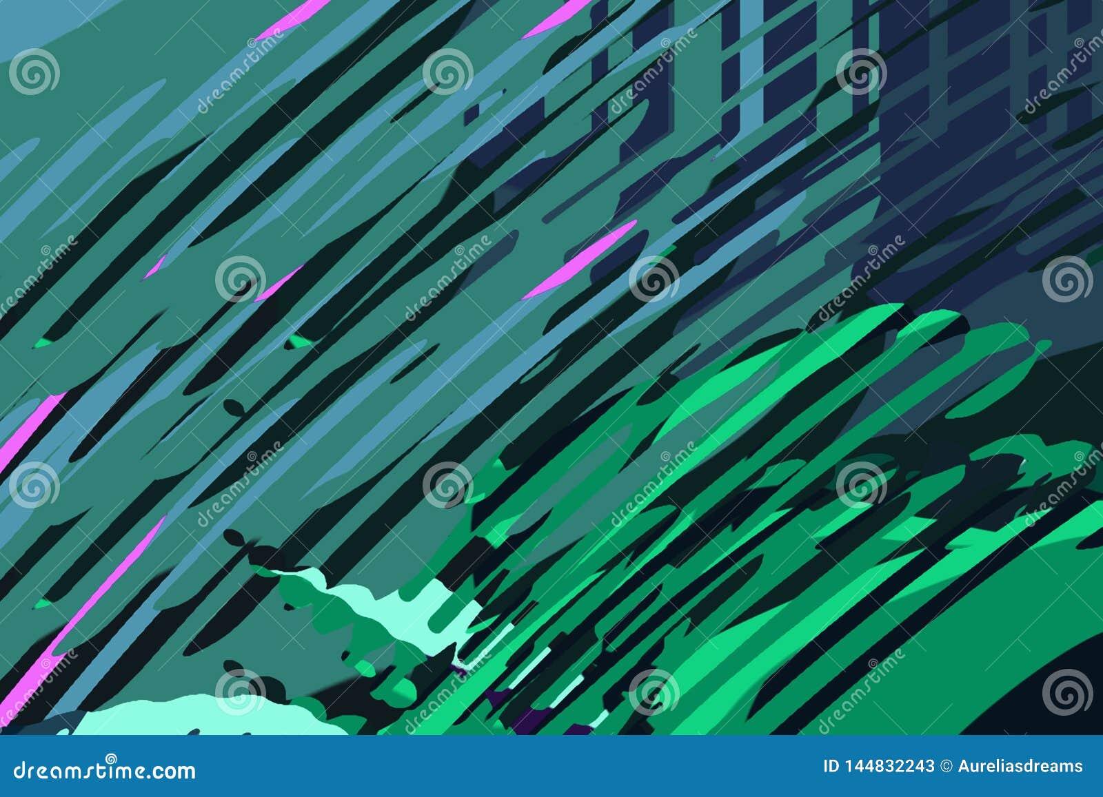 Rect?ngulos azules 2 Formas y formas coloridas creativas Modelo geom?trico Textura gr?fica brillante azul, del verde y del rosa