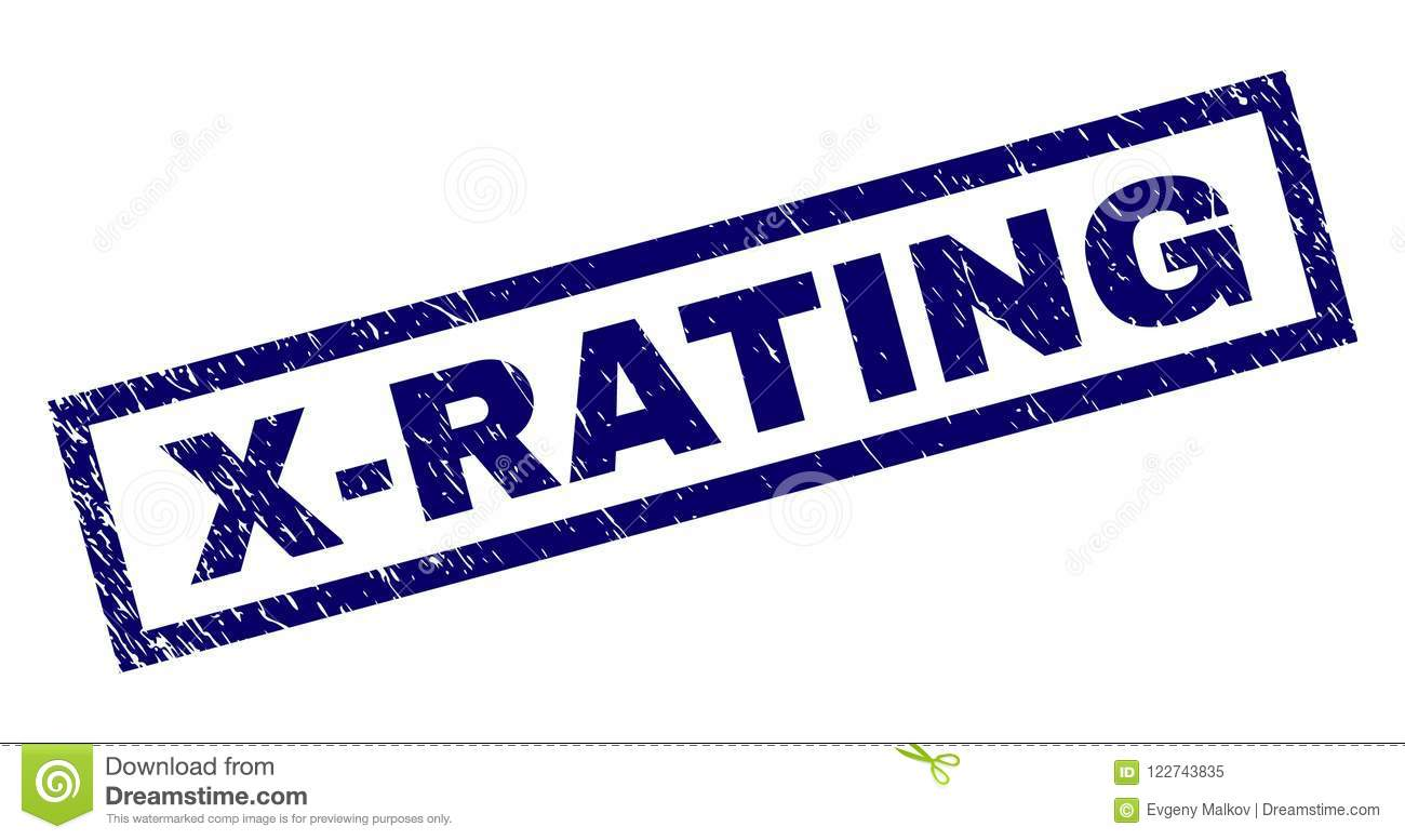 Rectangle Grunge X-RATING Stamp Stock Vector - Illustration of ...
