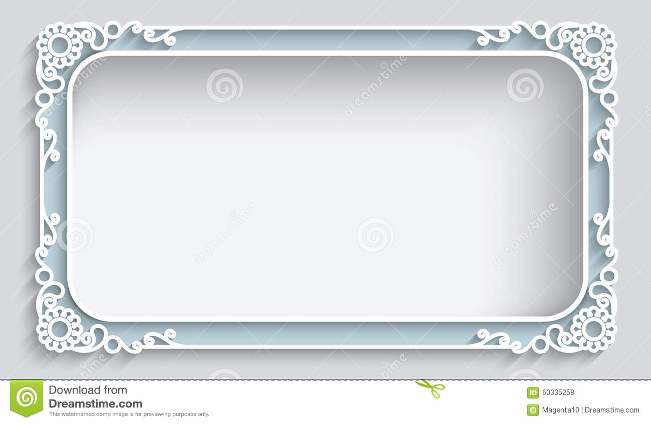 Rectangle Paper Frame Stock Vector - Image: 60335258