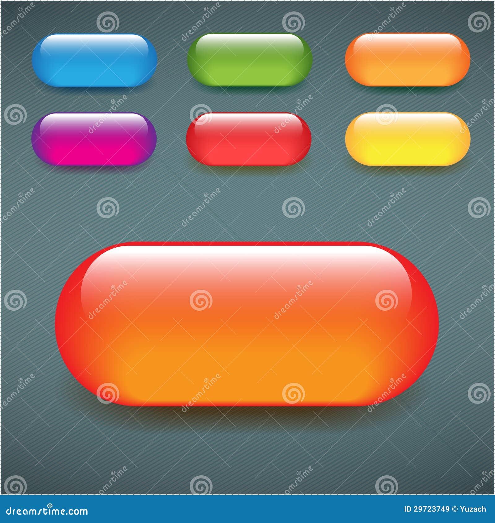 Rectangular blank web buttons glass