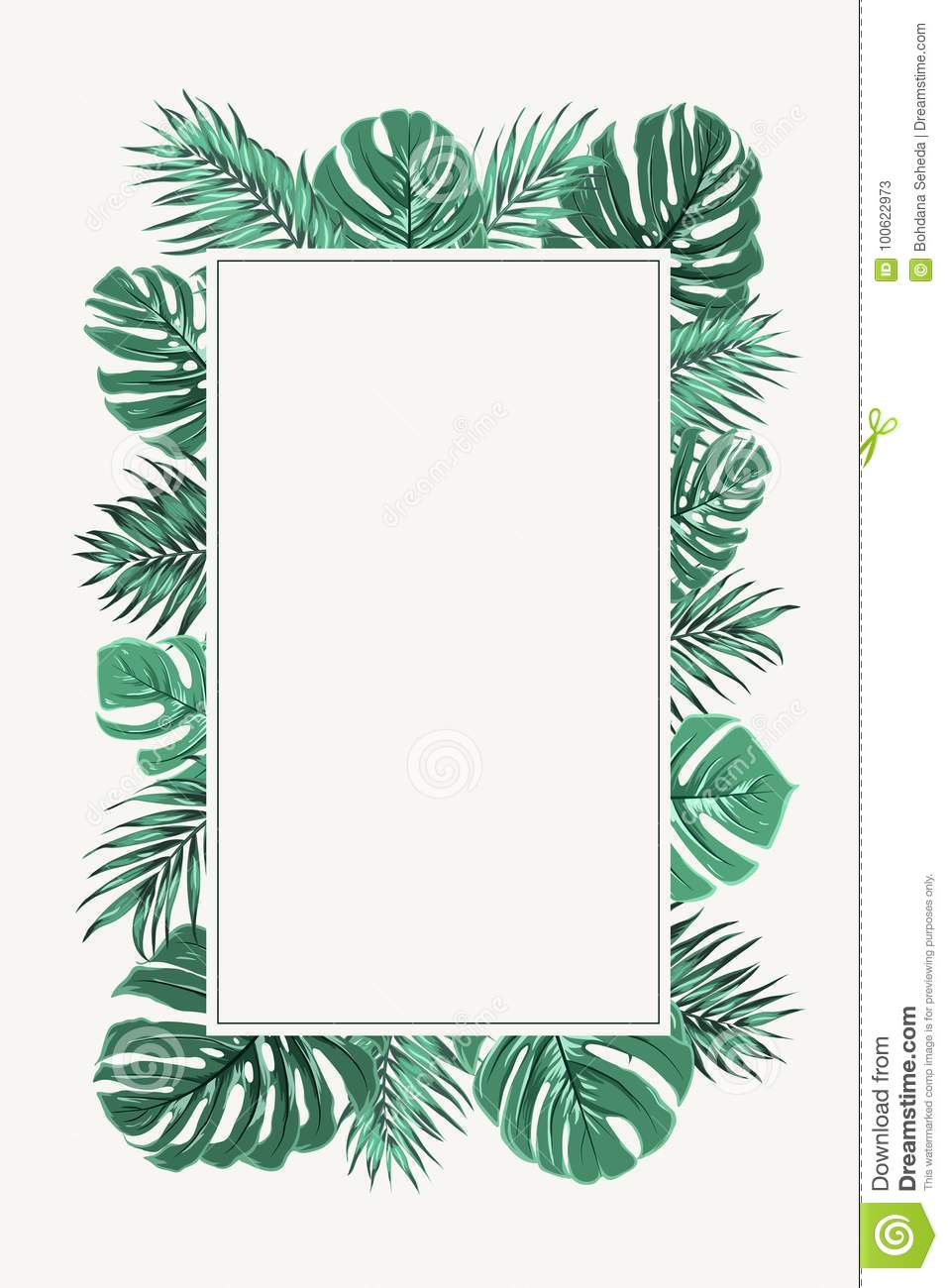 Rectangular Border Frame Green Tropical Leaves Stock Vector Illustration Of Monstera Natural 100622973 (yes, i do 'take requests'!). https www dreamstime com rectangular border frame green tropical leaves template decorated exotic jungle rainforest bright palm tree monstera image100622973