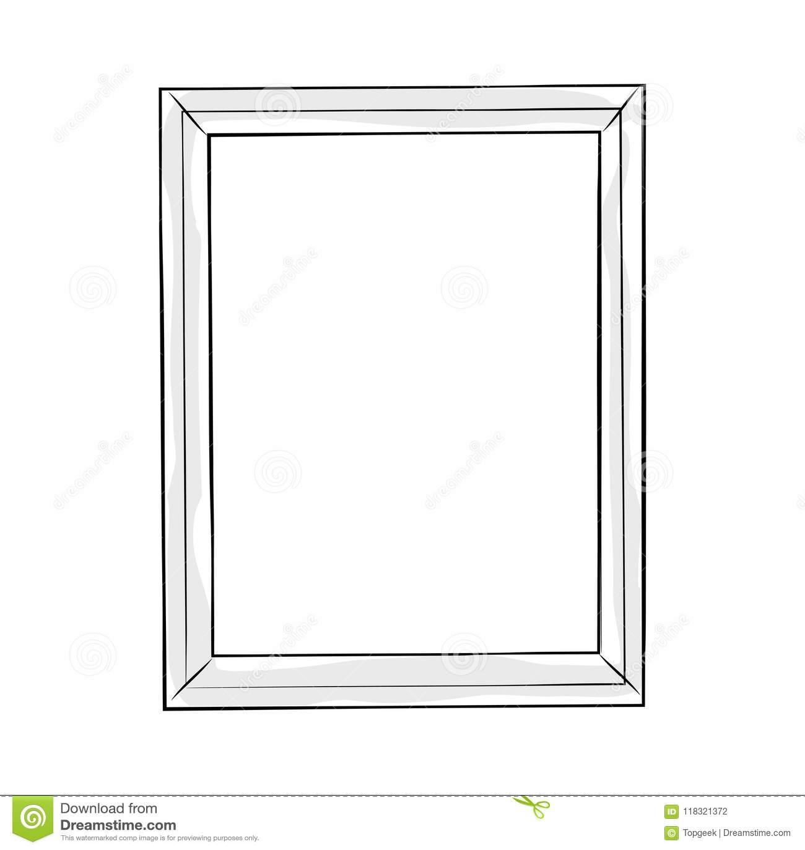 Rectangular Doodle Line Art Frame Vector Stock Vector - Illustration ...