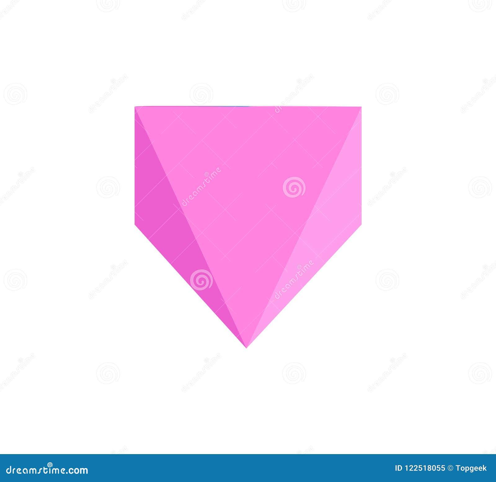 Rectangular Pyramid Template Collorful Poster Stock Vector