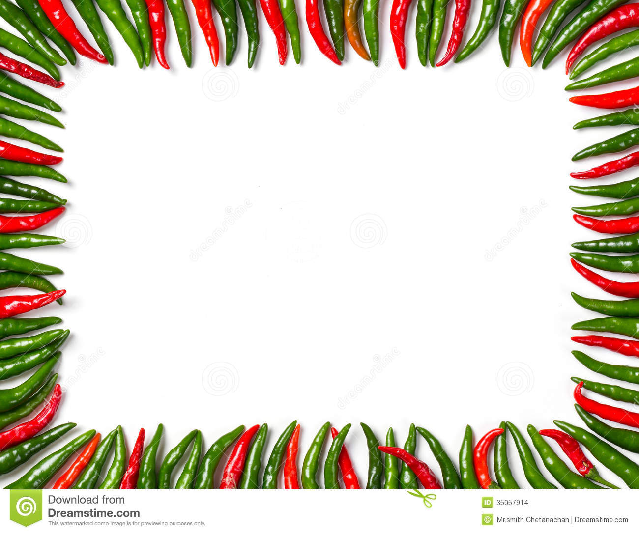 Rectangular Red And Green Bird Chili Frame Stock Images - Image ...