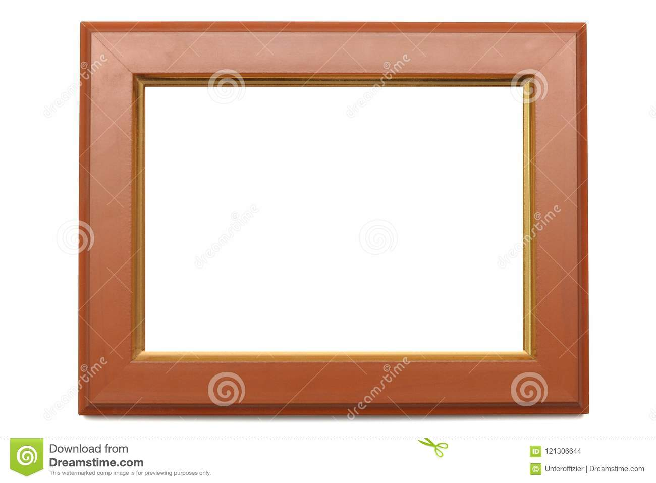 A rectangular shaped photo frame with edges of made of wood.