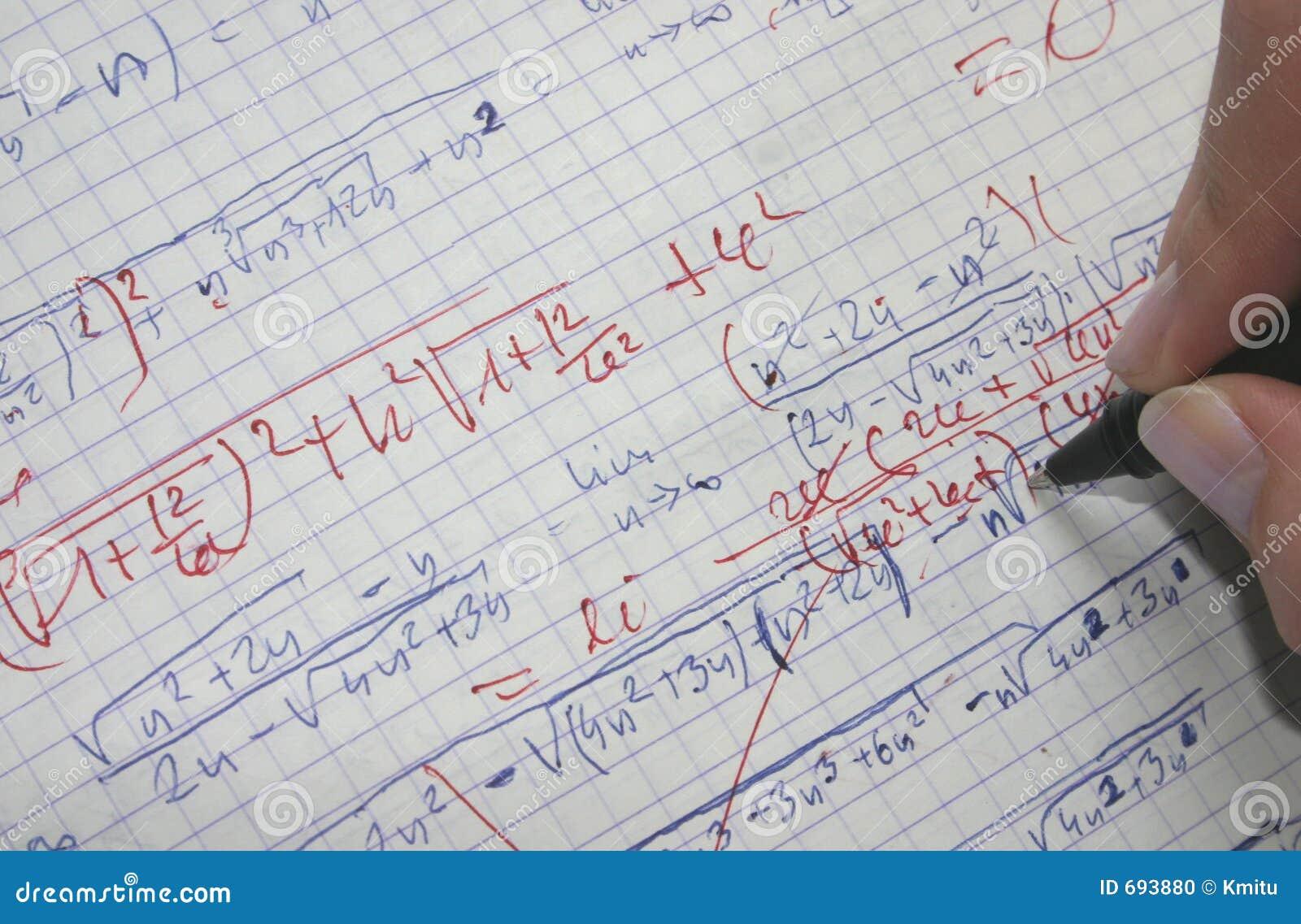 Rectification des maths