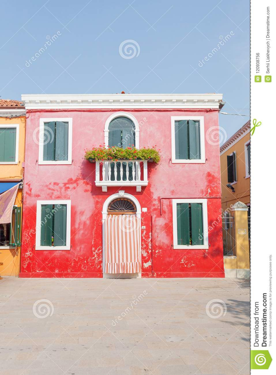 Colorful Houses In Burano, Venice, Italy Stock Photo - Image of blue ...
