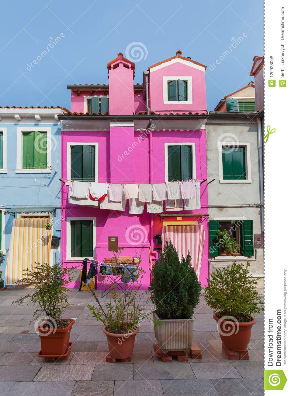 Colorful Houses In Burano, Venice, Italy Stock Photo - Image of ...