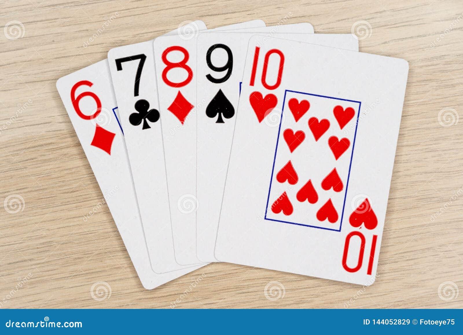 Recto - casino que juega tarjetas del póker