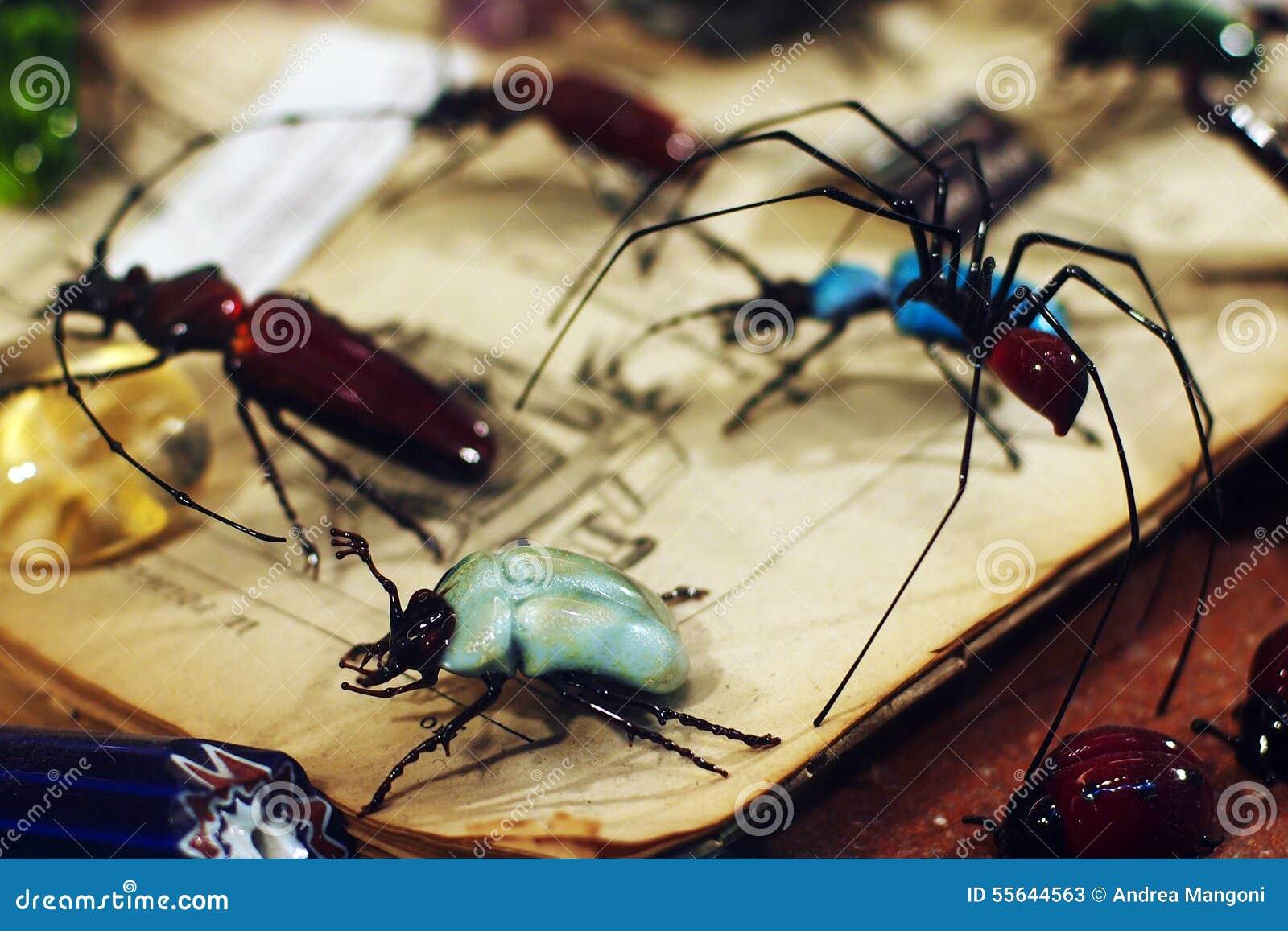 Recuerdo veneciano - insectos de cristal