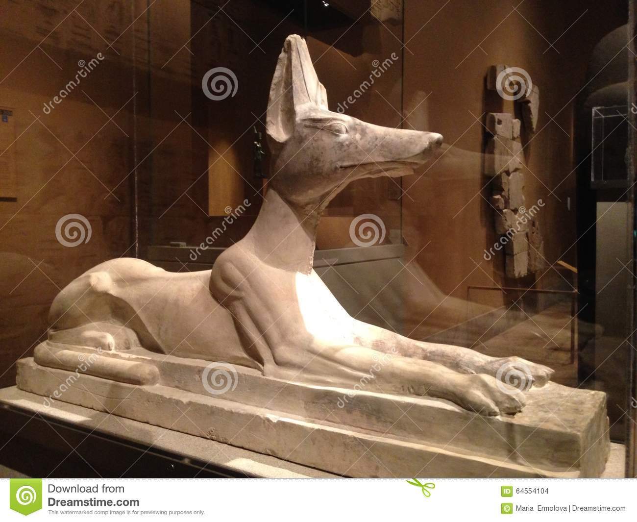 Recumbent Anubis Statue in Metropolitan Museum of Art.