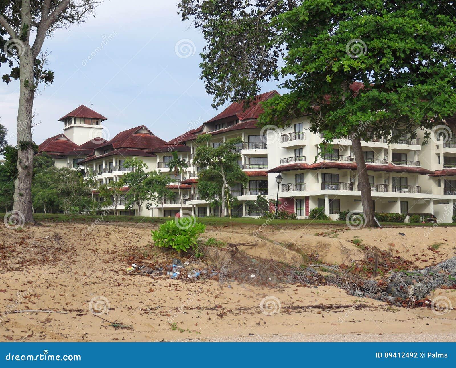 Recurso na praia de Desaru, Johor, Malásia