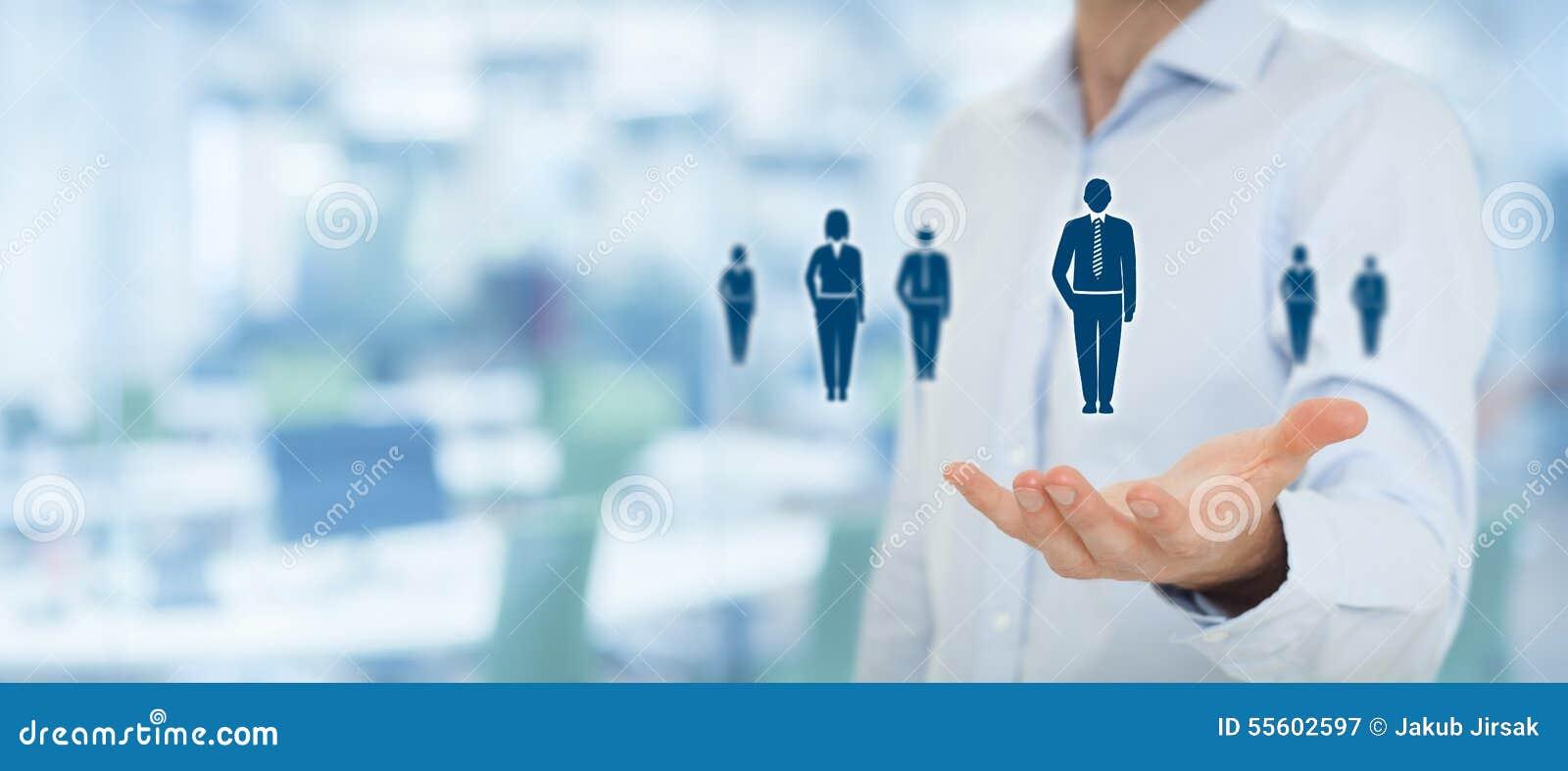 Recursos humanos y cuidado del cliente