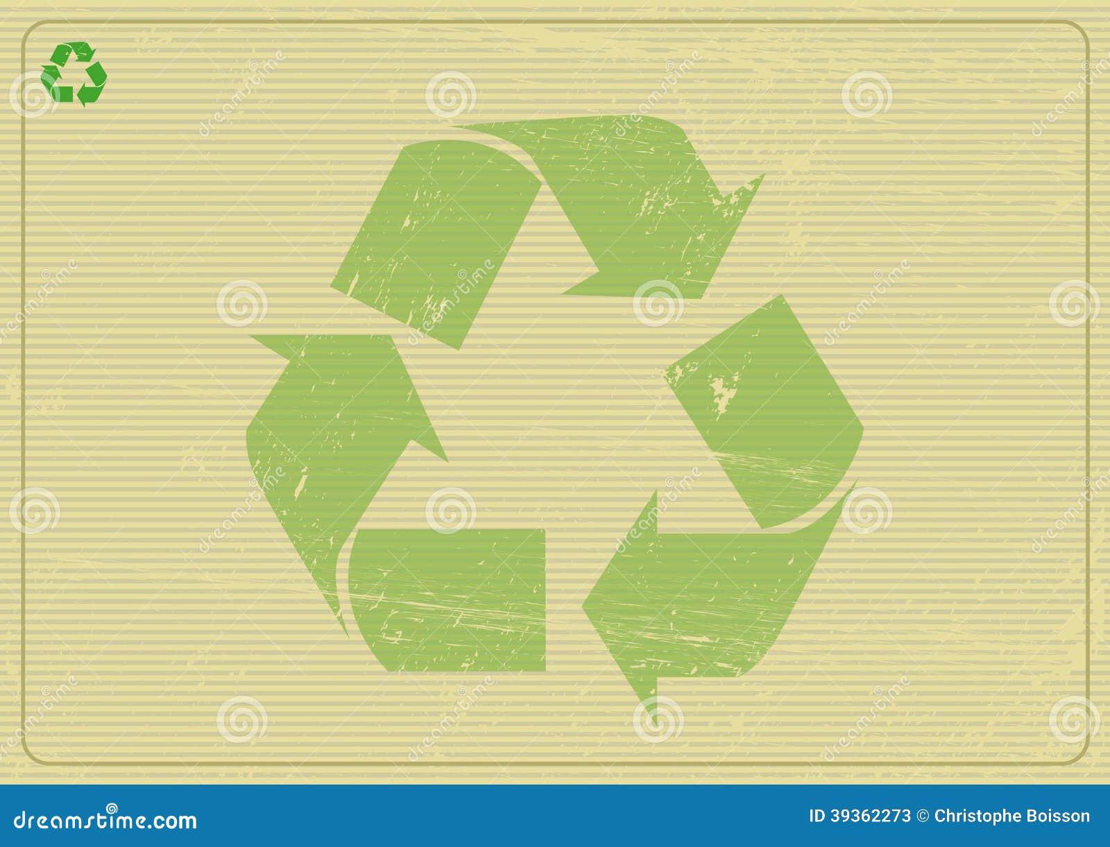 Recyclabe horisontalbakgrund
