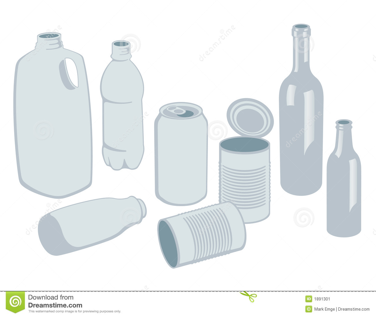 Recyclables διάνυσμα