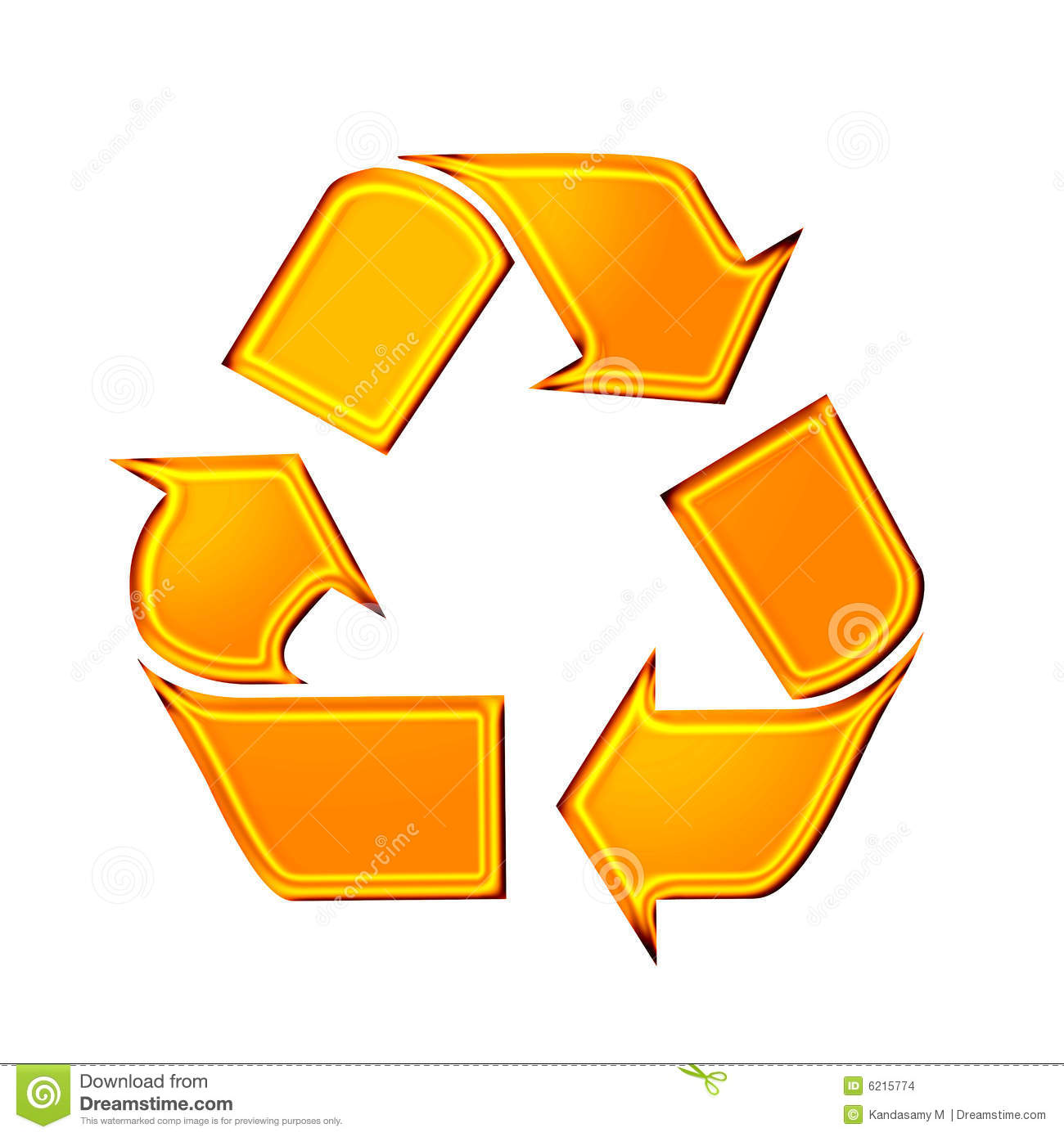 Recycle Stock Illustration Illustration Of Gold Reduced 6215774