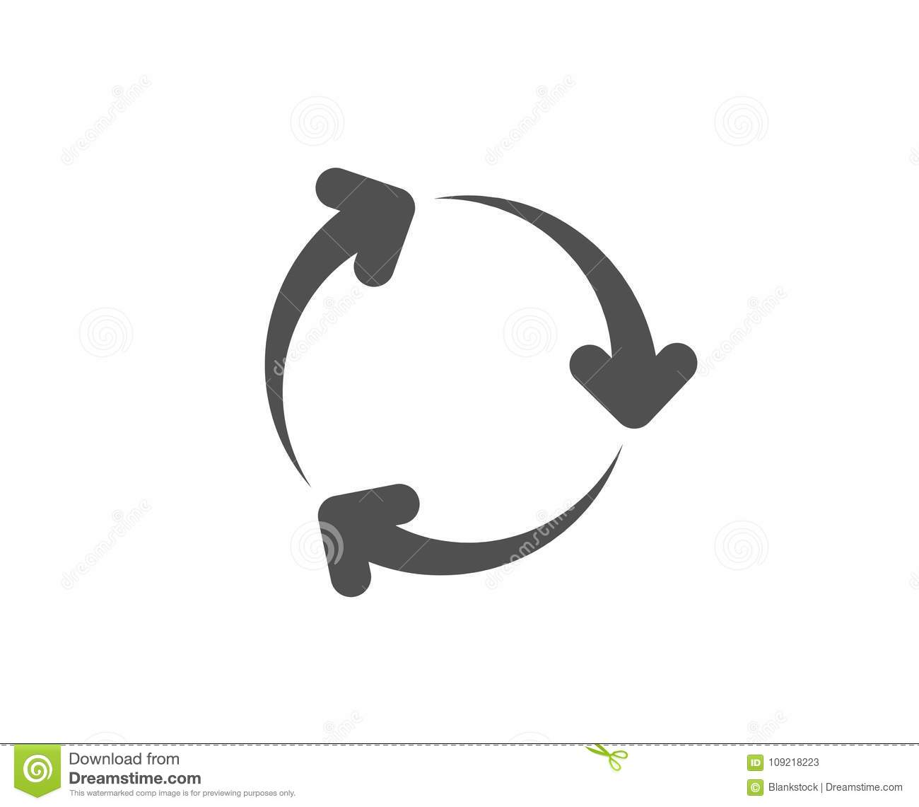 Recycle Arrow Simple Icon Recycling Waste Stock Vector