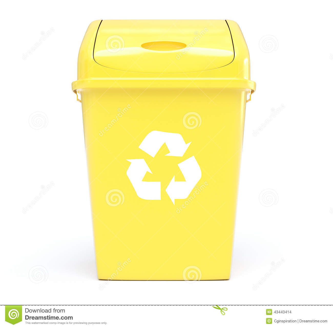 Recycle Bin Stock Illustration - Image: 43443414