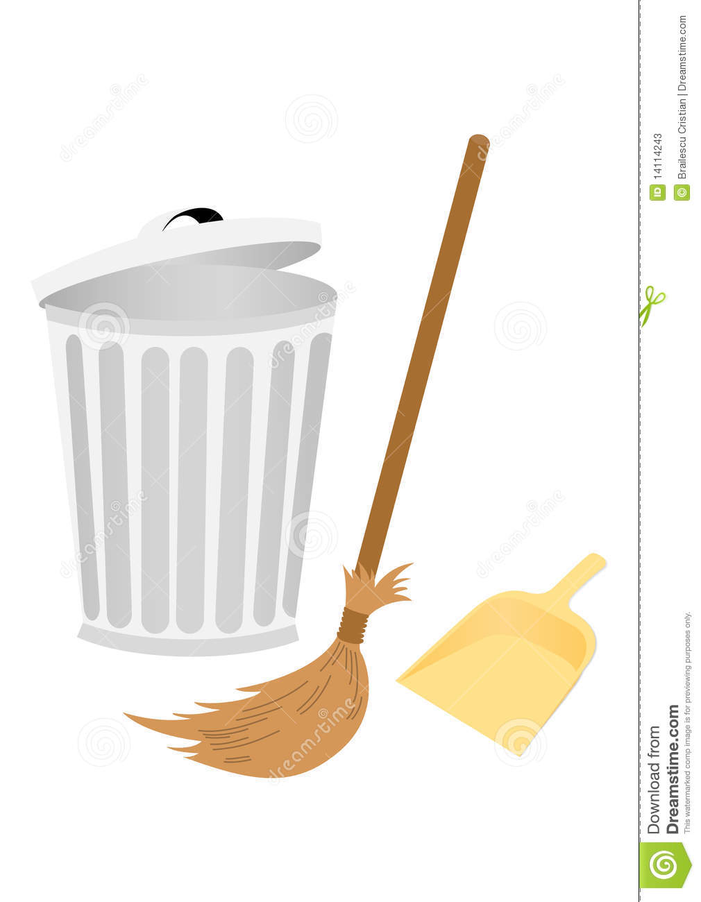 recycle bin with dustpan and broom stock vector dumpster fire clipart dumpster clip art free