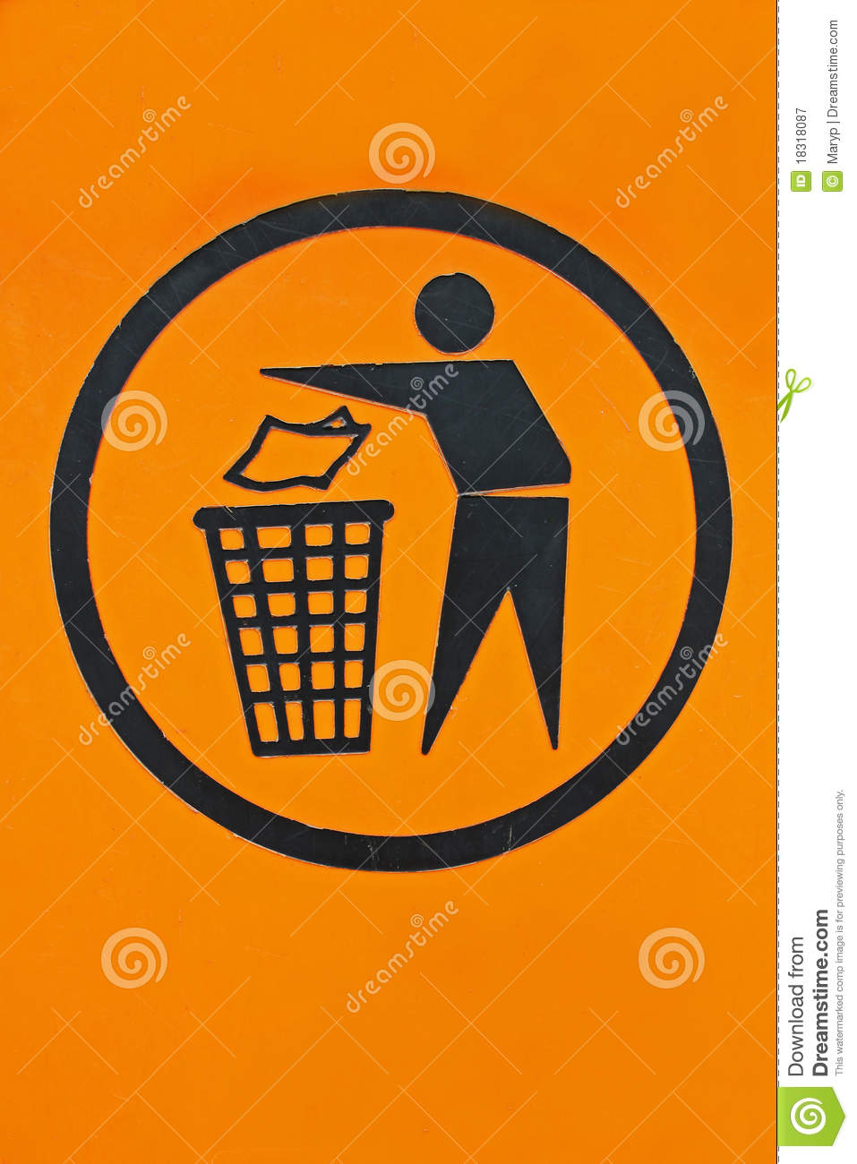 recycle bin sign royalty free stock photography