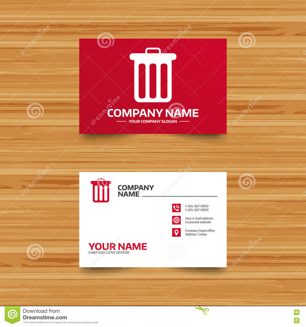Recycle Bin Sign Icon Bin Symbol Stock Vector Illustration Of