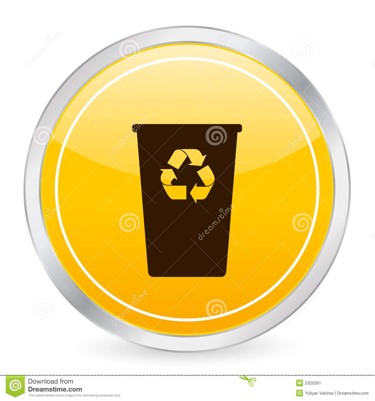 Recycle bin icon recycle bin yellow circle icon